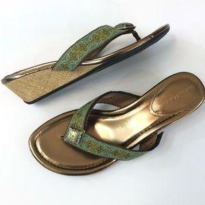 Lindsay Phillips Wedge Flip Flops 6